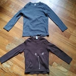 2 American apparel long sleeve tops. Size 4 and 6.